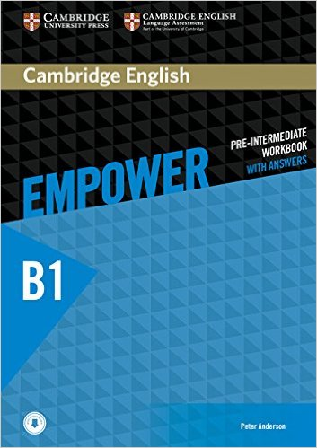 CAMBRIDGE ENGLISH EMPOWER PRE-INTERMEDIATE Workbook with answers + Downloadable Audio