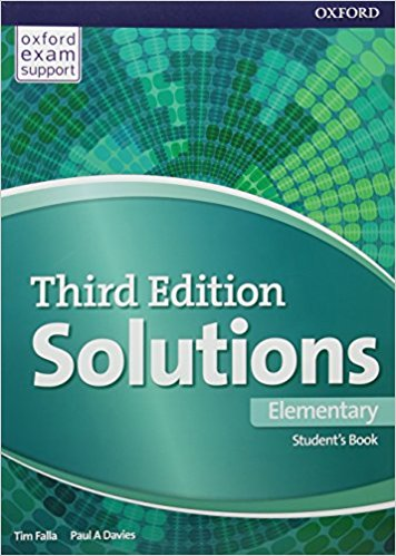 SOLUTIONS ELEMENTARY 3rd ED Student's Book