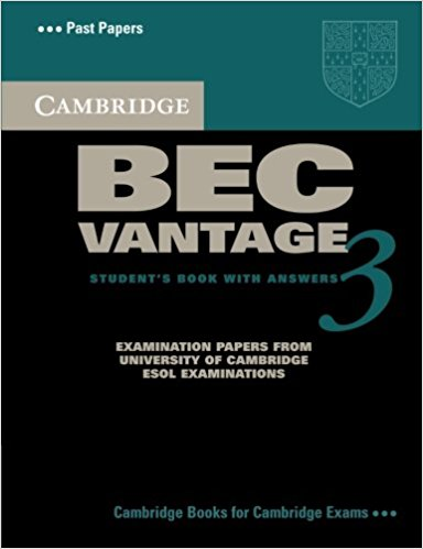CAMBRIDGE BEC 3 VANTAGE Student's Book with Answers