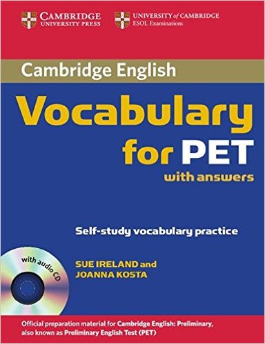 CAMBRIDGE VOCABULARY FOR PET Book with Answers + Audio CD