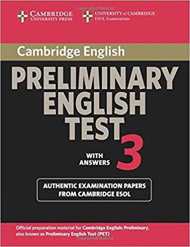 Cambridge PET 3 Student's Book with answers