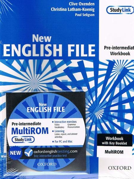 NEW ENGLISH FILE PRE-INTERMEDIATE Workbook with Key + MultiROM