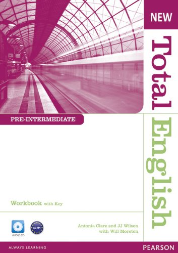 NEW TOTAL ENGLISH PRE-INTERMEDIATE  Workbook with answers+ Audio CD