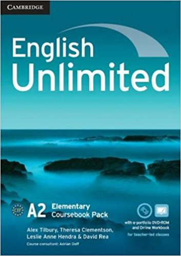 ENGLISH UNLIMITED ELEMENTARY Coursebook + e-Portfolio + Online Workbook Pack