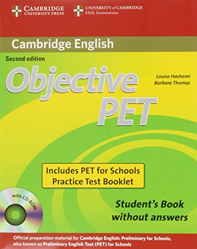 Objective PET  2nd ED  For Schools Pack wthout answers (Student's Book +CD-ROM +Test Booklet)