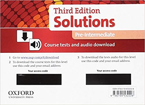 SOLUTIONS PRE-INTERMEDIATE 3rd ED Test Multi-ROM