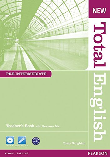 NEW TOTAL ENGLISH PRE-INTERMEDIATE  Teacher's  Book+ Teacher's Resource Disk Pack