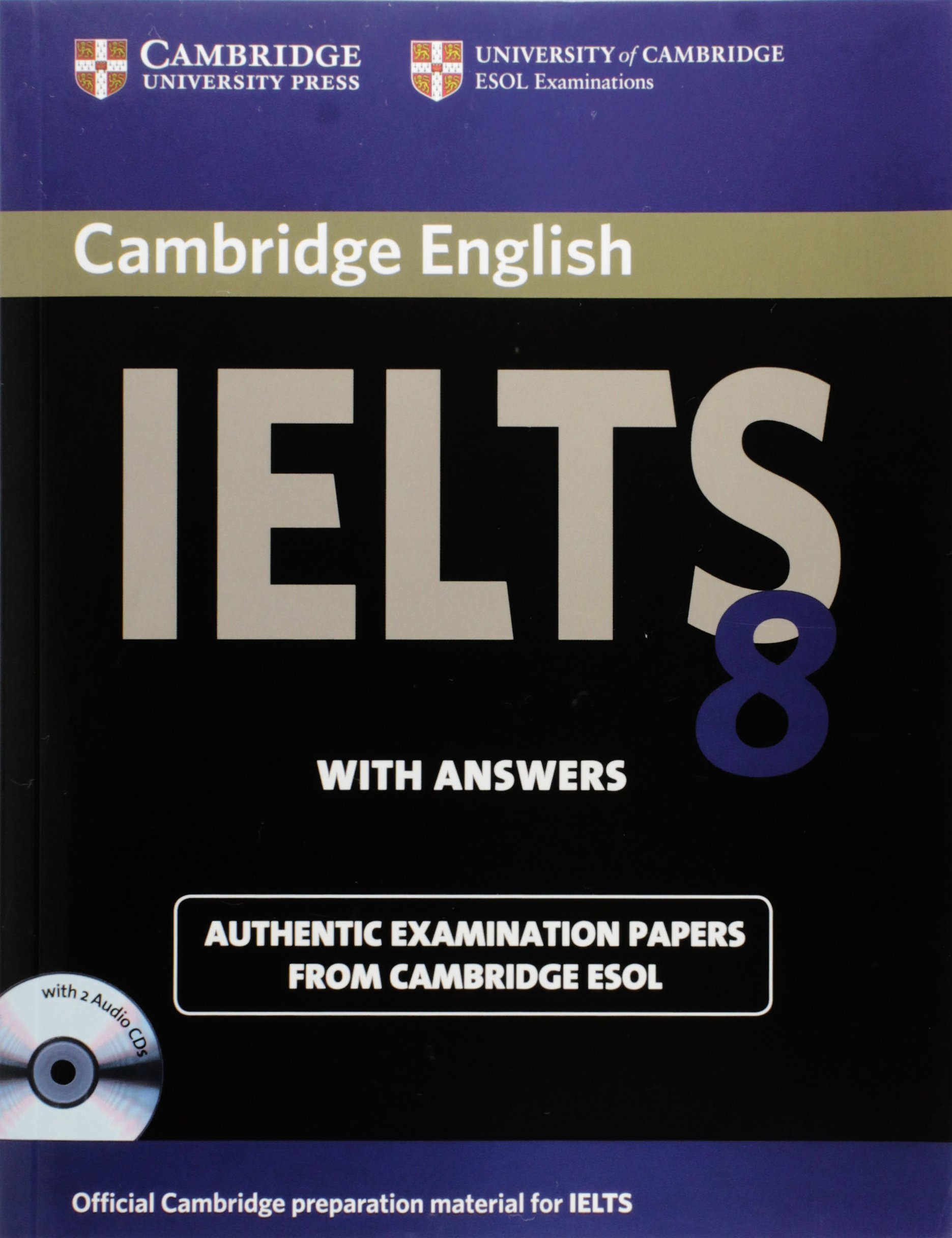 CAMBRIDGE IELTS 8 Student's Book with Answers + Audio CD