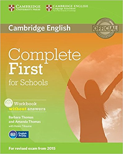Complete First for Schools Workbook without  answers + AudioCD