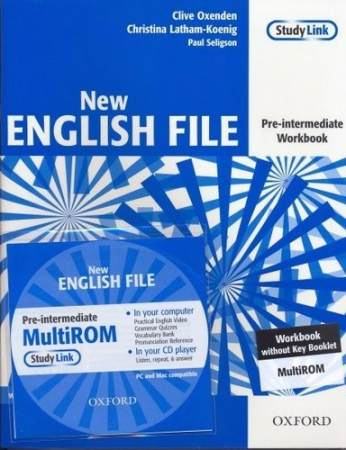 NEW ENGLISH FILE PRE-INTERMEDIATE Workbook without Key + MultiROM