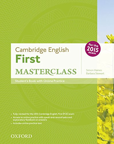 Cambridge English FIirst Masterclass Student's Book &Online Pactice Test 2015