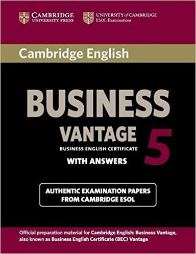 CAMBRIDGE BEC 5 VANTAGE Student's Book with Answers