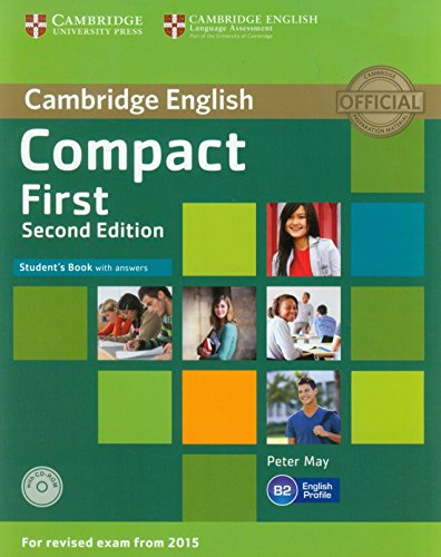 Compact First  2nd Ed Student's Book with answers + CD-ROM with Testbank