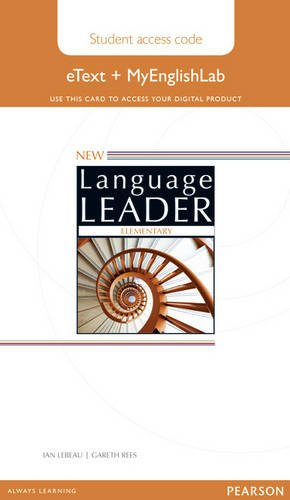 NEW LANGUAGE LEADER ELEMENTARY Etext Student's  Book+My lab