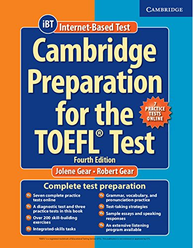 CAMBRIDGE PREPARATION TO THE TOEFL TEST 4th ED Bk +Online Practice Tests + Audio CD (x8)