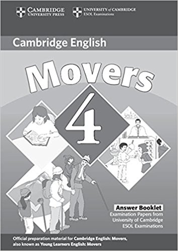 CAMBRIDGE YOUNG LEARNERS ENGLISH TESTS 2nd ED Movers 4 Answer Booklet