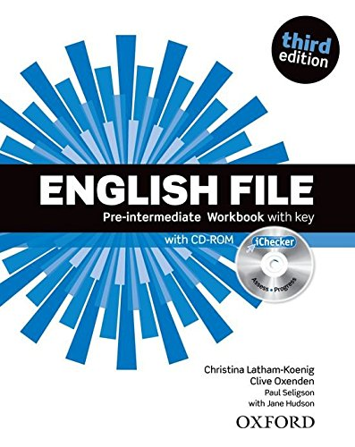 ENGLISH FILE PRE-INTERMEDIATE 3rd ED Workbook with Key + iChecker