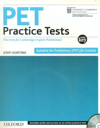 PET PRACTICE TESTS  NEW Book  with answers+ AudioCD