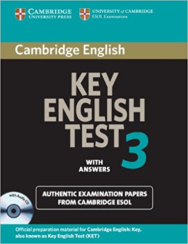 CAMBRIDGE KEY ENGLISH TEST 3 Self-study Pack (Student's Book with Answers + Audio CD)