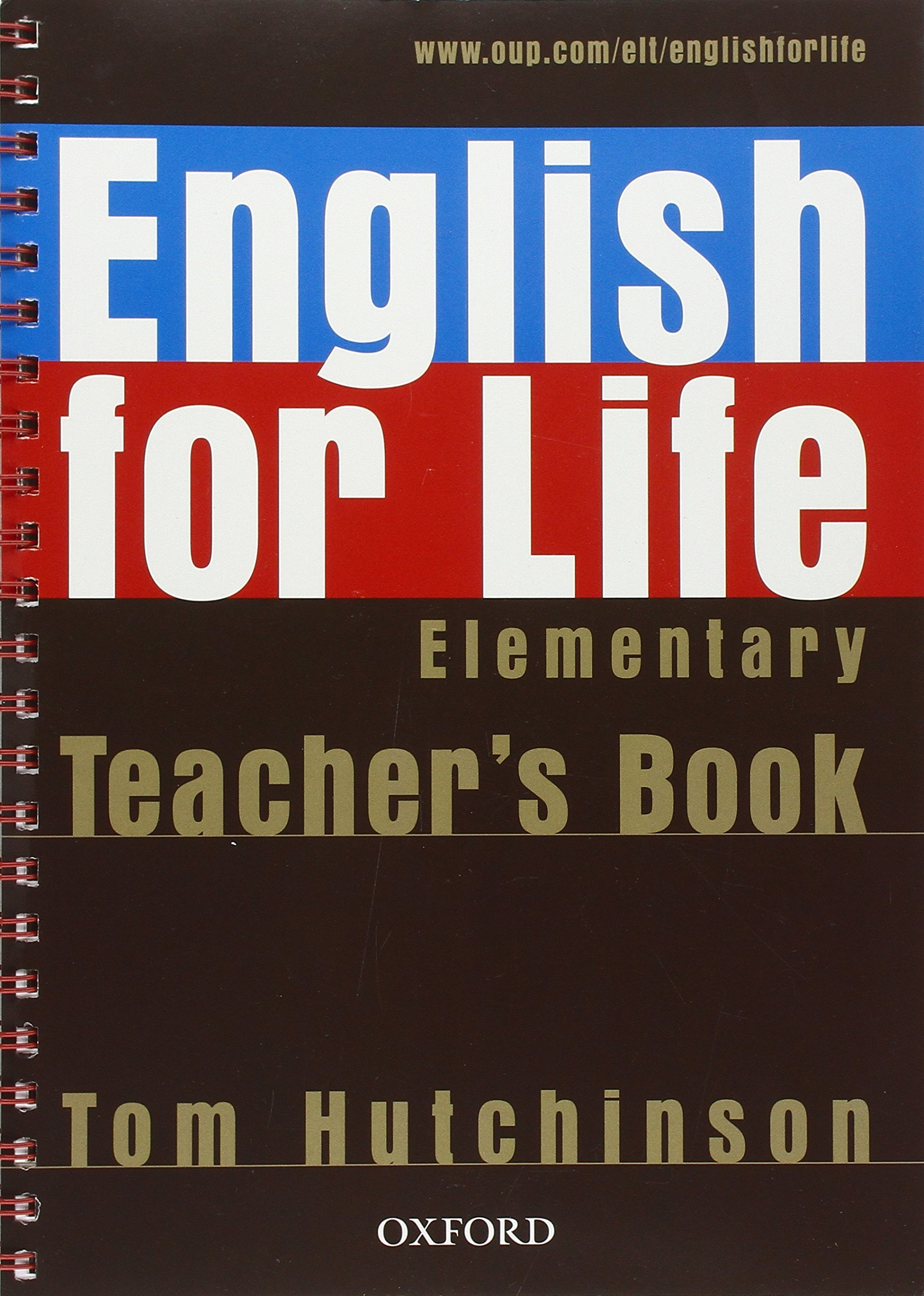 ENGLISH FOR LIFE  ELEMENTARY Teacher's Book + CD-ROM Pack