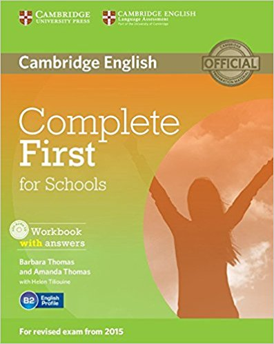 Complete First for Schools Workbook with answers + AudioCD