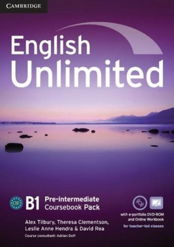 ENGLISH UNLIMITED PRE-INTERMEDIATE Coursebook + e-Portfolio + Online Workbook Pack