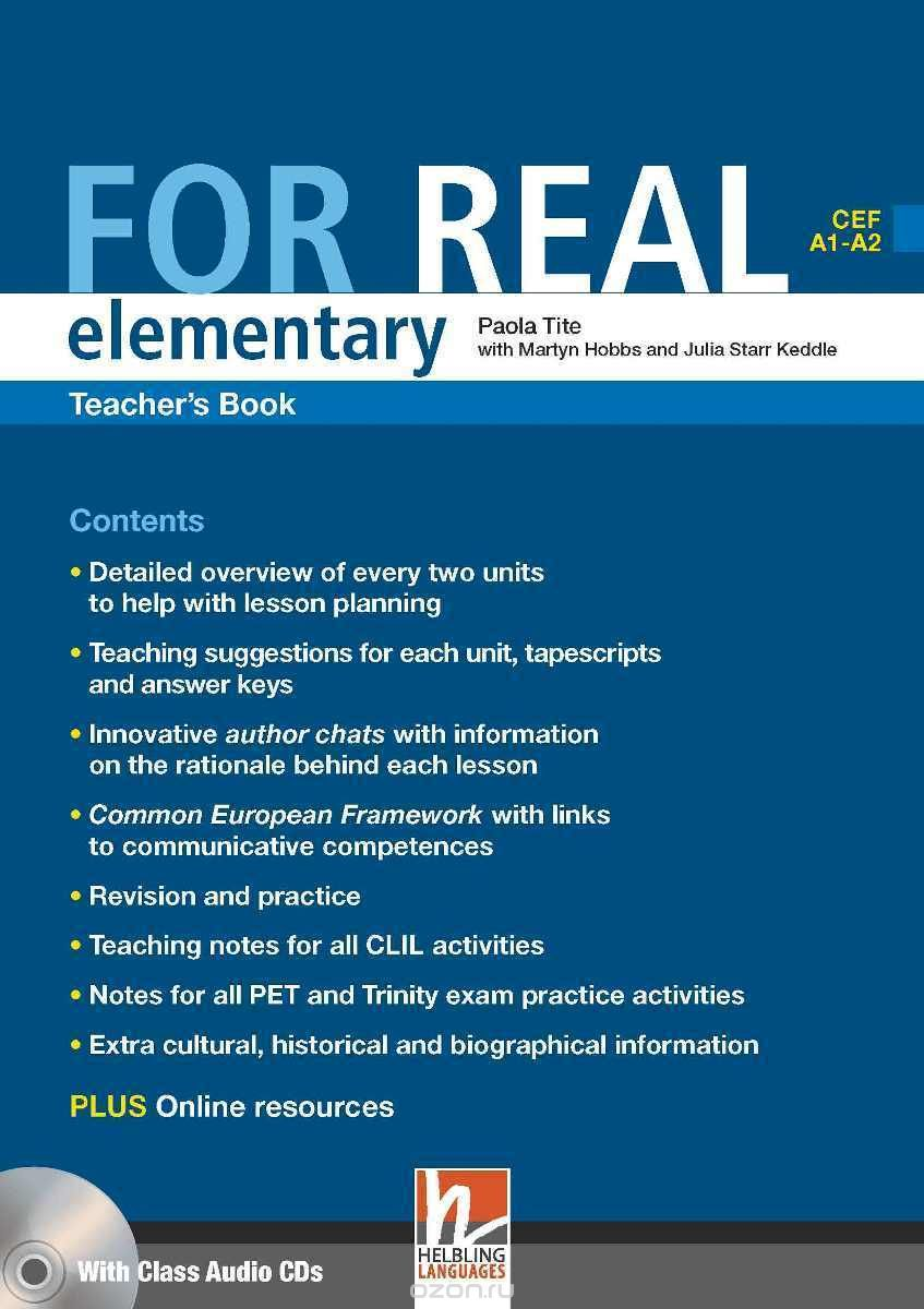 FOR REAL ELEMENTARY Teacher's Book + Class Audio CD + CD-ROM