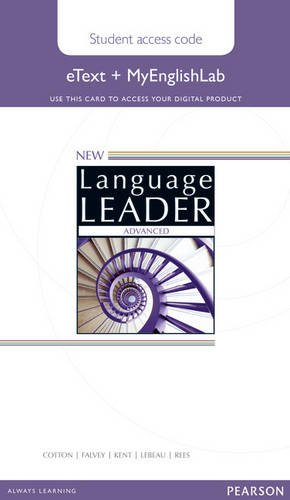 NEW LANGUAGE LEADER ADVANCED Etext Student's  Book+My lab