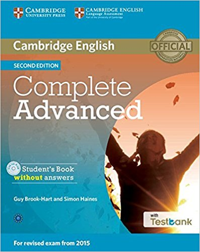 COMPLETE ADVANCED 2nd ED Student's Book without Answers + CD-ROM + Testbank