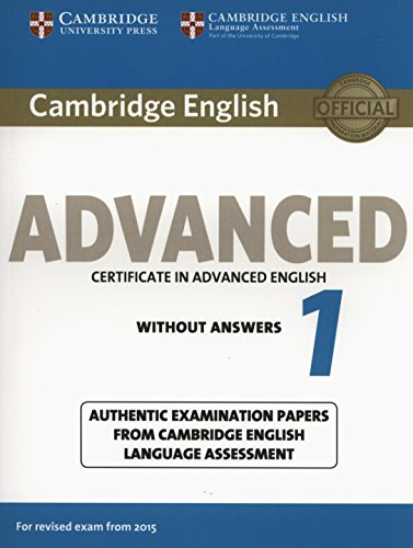 CAMBRIDGE ENGLISH ADVANCED 1 2015  Student's Book without Answers