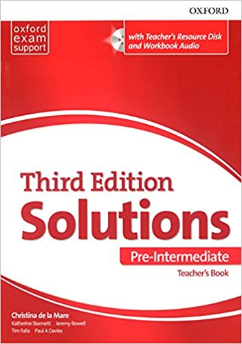 SOLUTIONS PRE-INTERMEDIATE 3rd ED Teacher's Book + CD-ROM