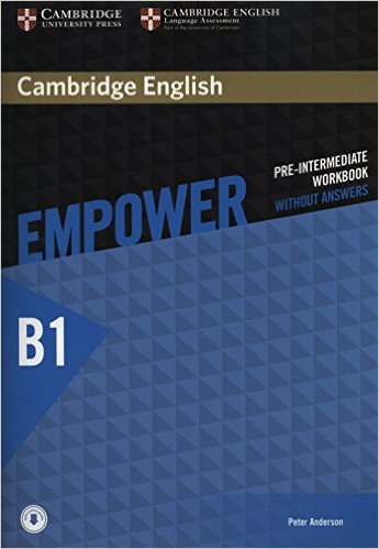 CAMBRIDGE ENGLISH EMPOWER PRE-INTERMEDIATE Workbook without answers + Downloadable Audio