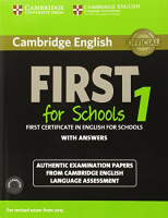 CAMBRIDGE ENGLISH FIRST FOR SCHOOLS TEST 1 (2015)